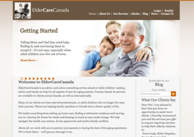 Eldercare Canada Website