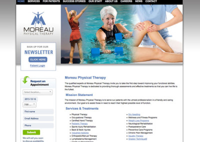 Moreau Physical Therapy Website