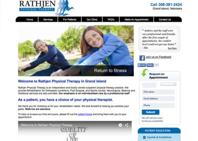 Rathjen Physical Therapy Website