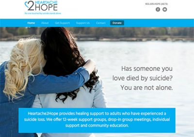 Heartache2Hope Website